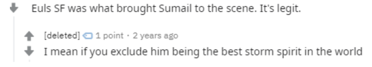 Fans have debated on reddit about what made SumaiL popular. Was it the new Euls SF build or his amazing Storm Spirit plays?